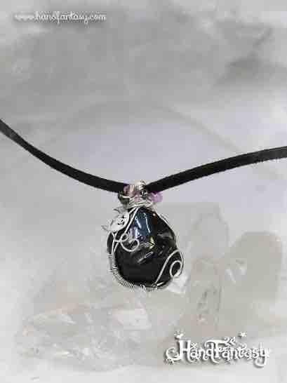 Colgante Turmalina negra, collar Turmalina negra, piedra Turmalina, Piedra negra