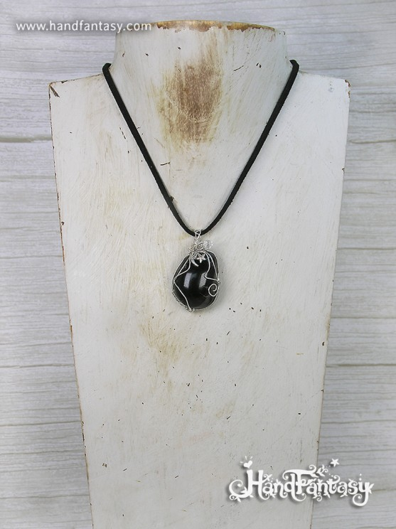 colgante ónix, ónix piedra, ónix negro, mineral ónix, joyería ónix, colgante de ónix