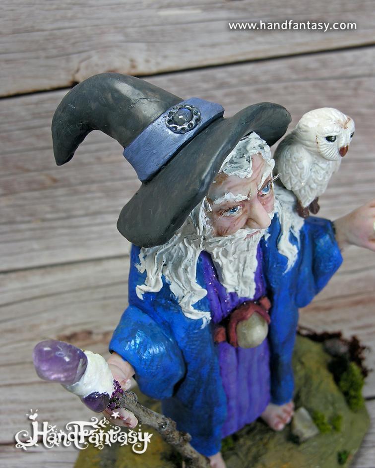 Figura Mago Merlín, escultura Merlín, Figura Merlín