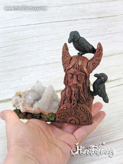 figura Odin, dioses nordicos,dios odin,simbolo de odin