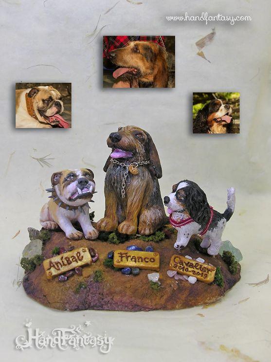 Recuerdos de Mascotas, Figuras de mascotas, Figura perro 3D