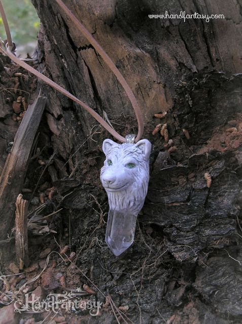Colgante Lobo blanco, colgante de lobo, collar lobo, joyería lobo