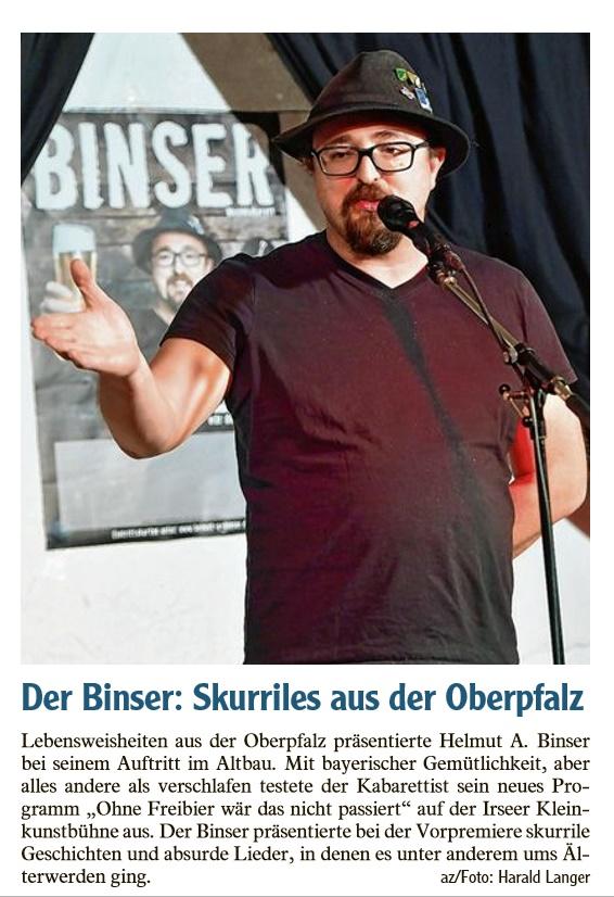 Kleinkunstverein Altbau e.V. - Helmut A. Binser