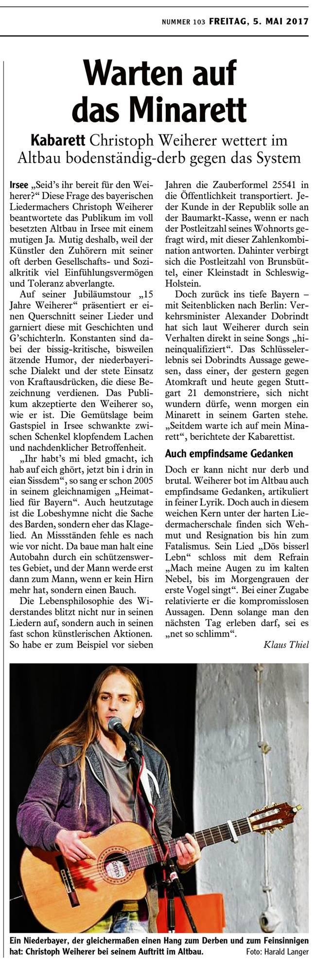 Kleinkunstverein Altbau e.V. - Weiherer