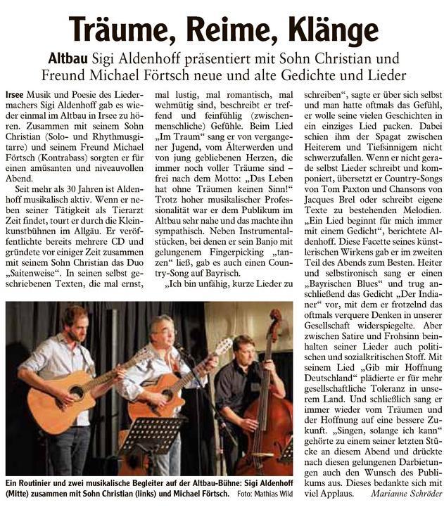 Allgäuer Zeitung-Kaufbeuren bom 27.1.2015
