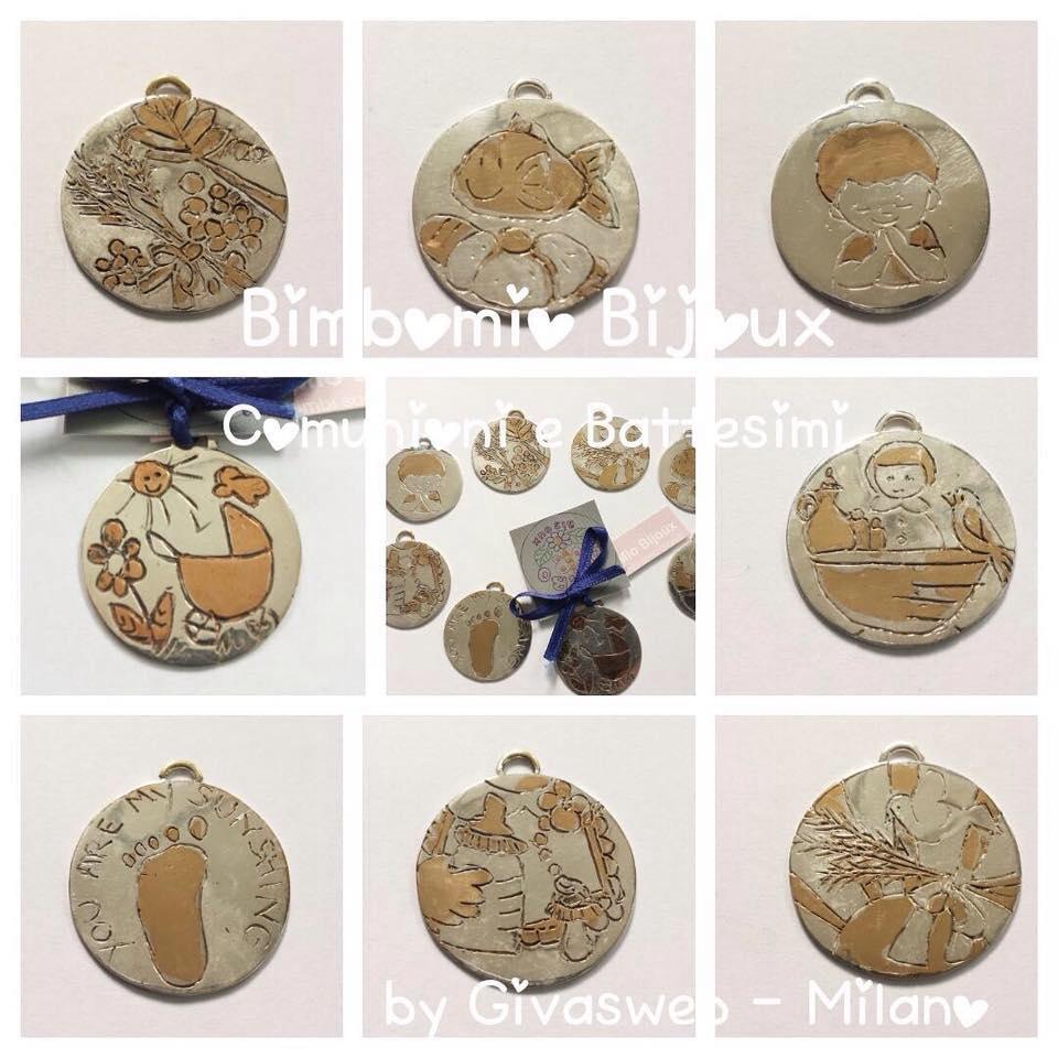 medaglie per bomboniere comunione e battesimi