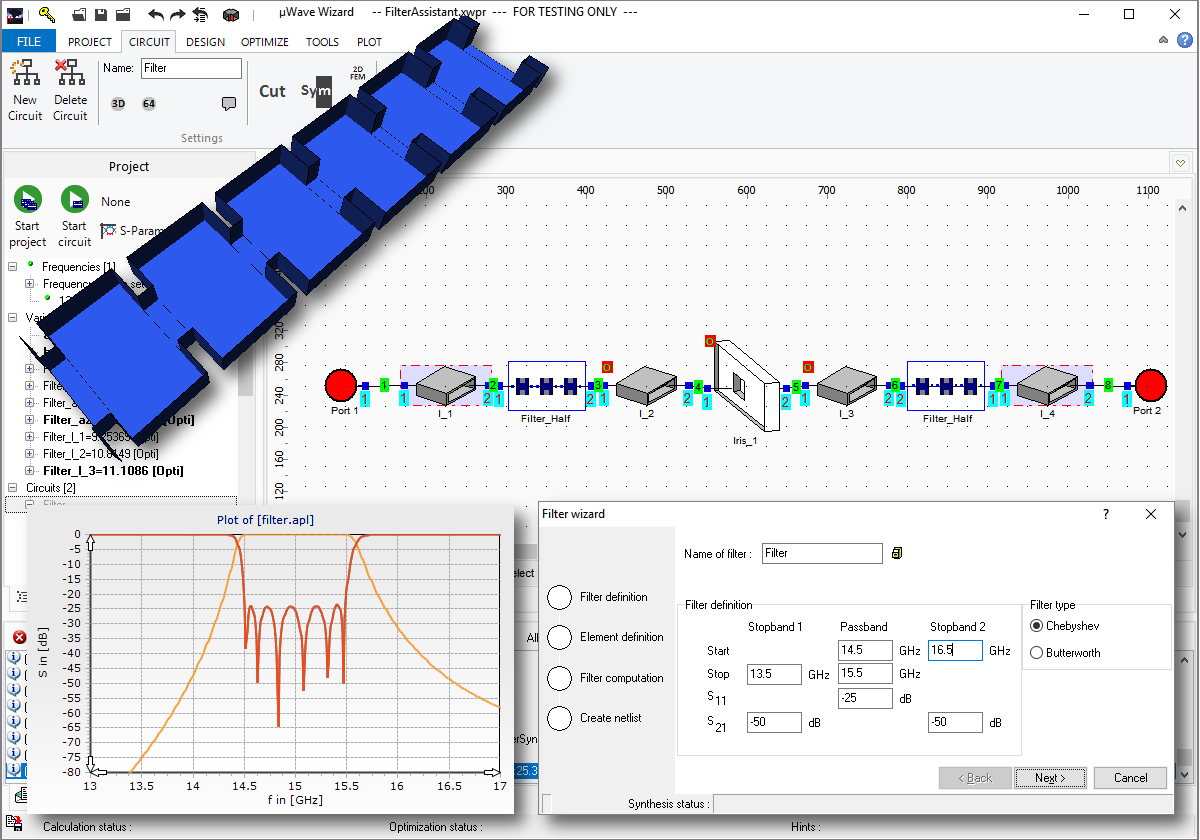 Synthesis: waveguide filter