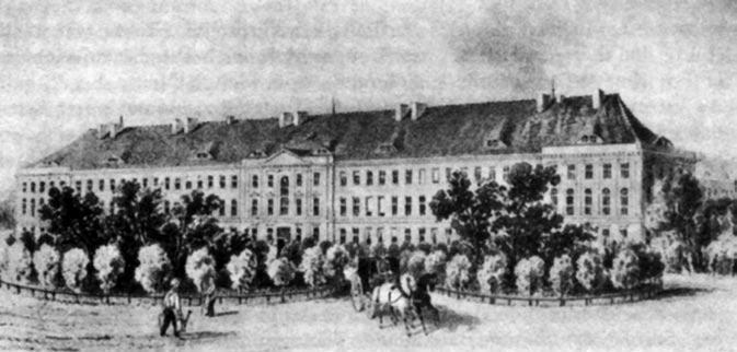 Die Charité um 1850, © gemeinfrei