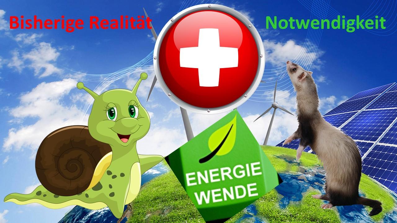 EnergieWende Schweiz bisher massiv zu langsam - Beschleunigung im Sinne eines KMU Speed tut Not, auch um zukunftsfähiger Wirtschaft nicht zu schaden!