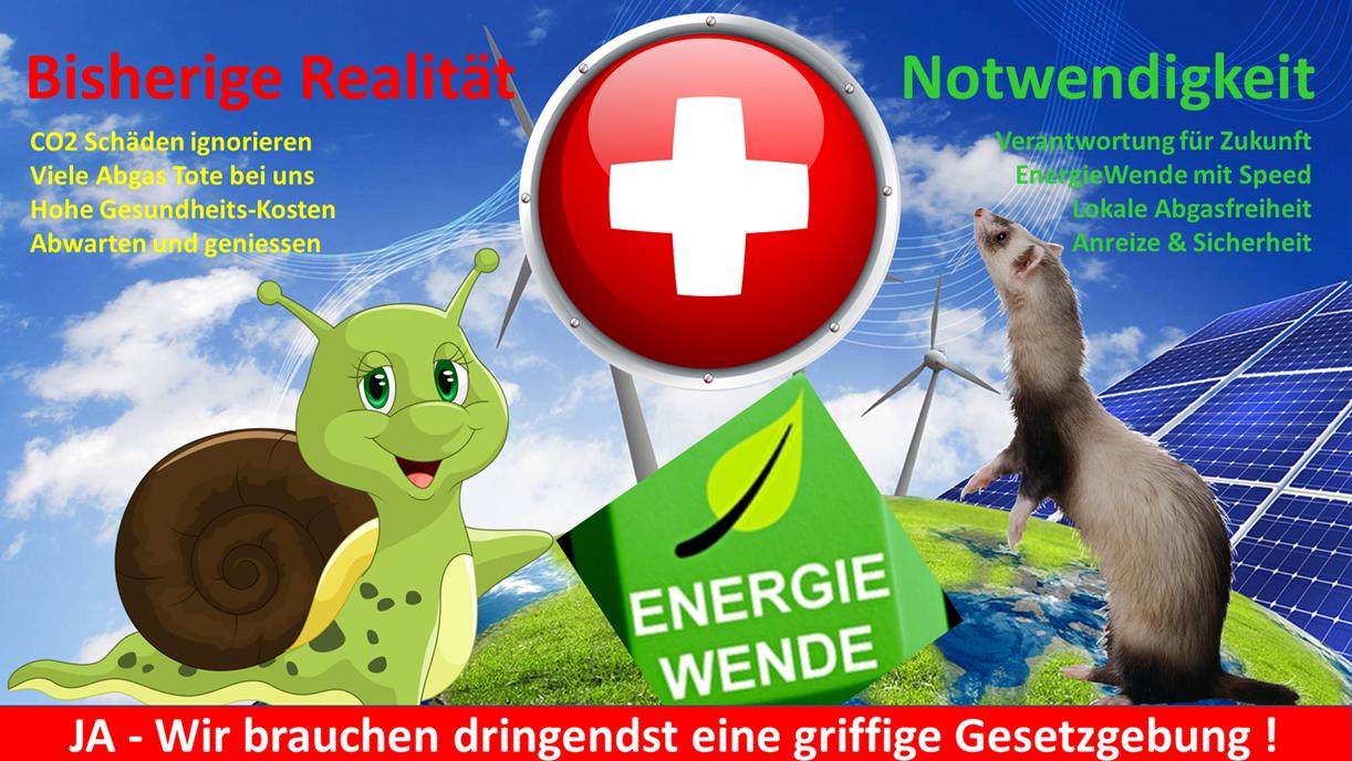 Zusatz-Argumente für das CO2 Gesetz der Schweiz, welche primär dank des Wasserkraft-Erbes der Vorgenerationen noch gut dasteht!