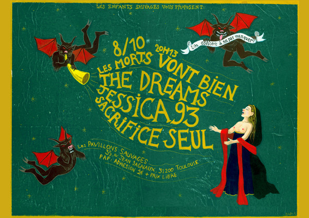 Affiche de concert / Acrylique sur carton / 42x29,7 cm / Kinder-k 2013