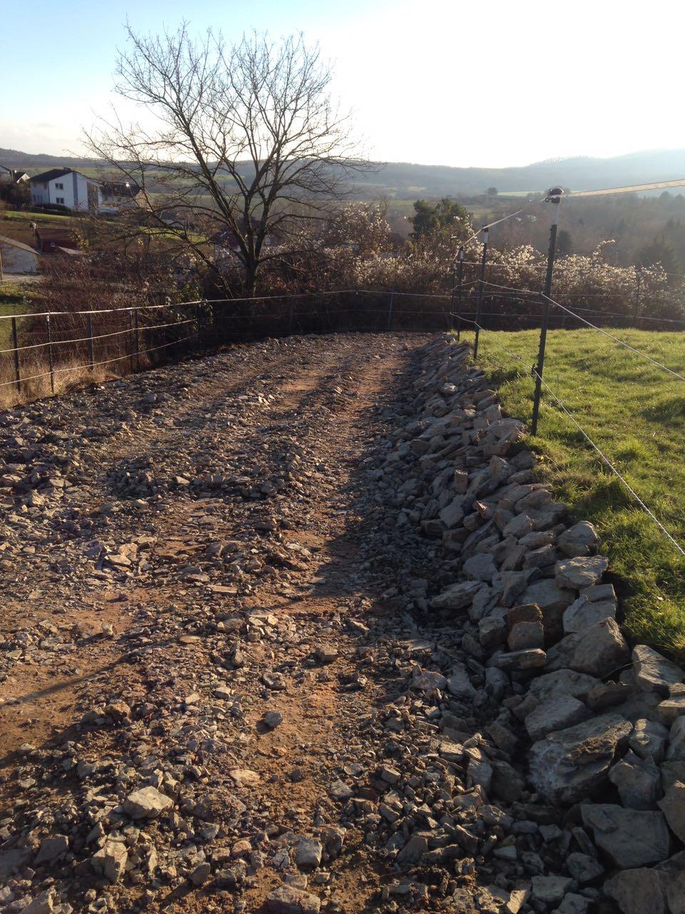 Zentrum für Pferdegesundheit - Paddocktrail: steinige Passage