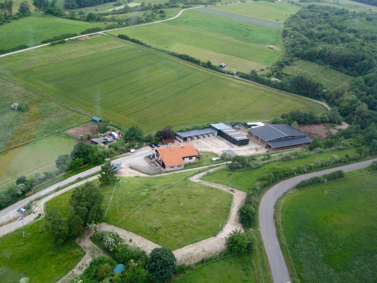 Zentrum für Pferdegesundheit: Luftansicht
