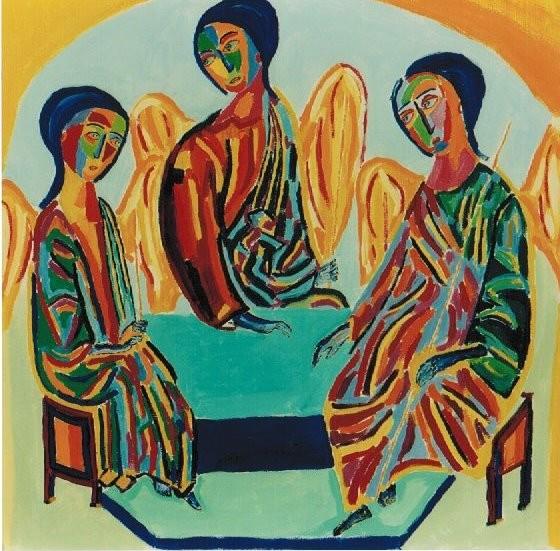 Die drei Engel bei Abraham - die Dreifaltigkeit