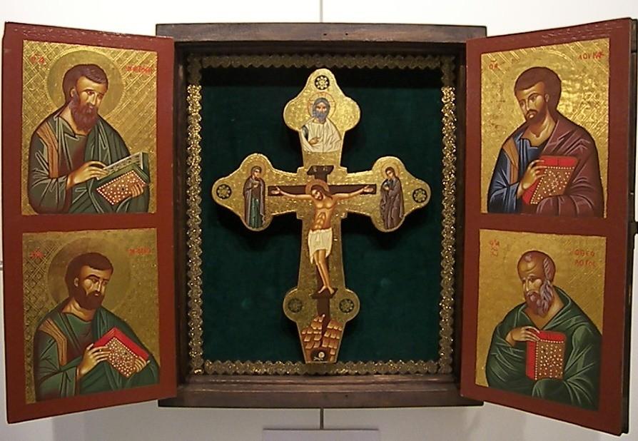 VENTANA 3 (ABIERTA) CRUZ Y EVANGELISTAS