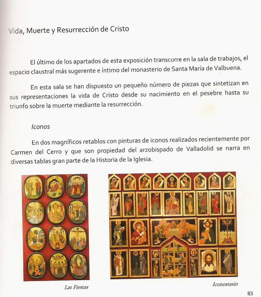 ICONOSTASIO DE STA. Mª DE VALBUENA Y DOCE FIESTAS