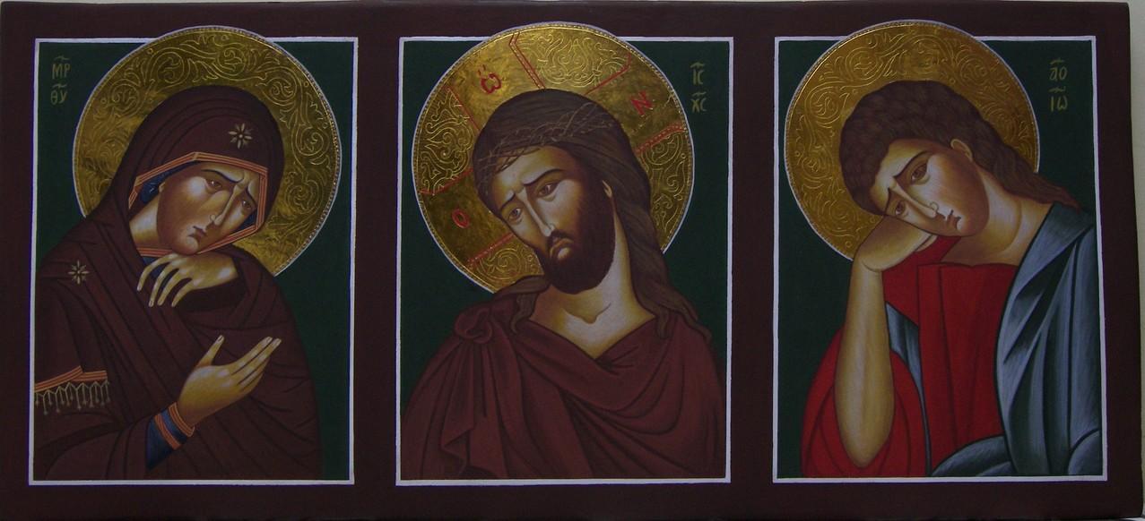 ECCEHOMO, DOLOROSA Y S. JUAN  79 X 46    680 €