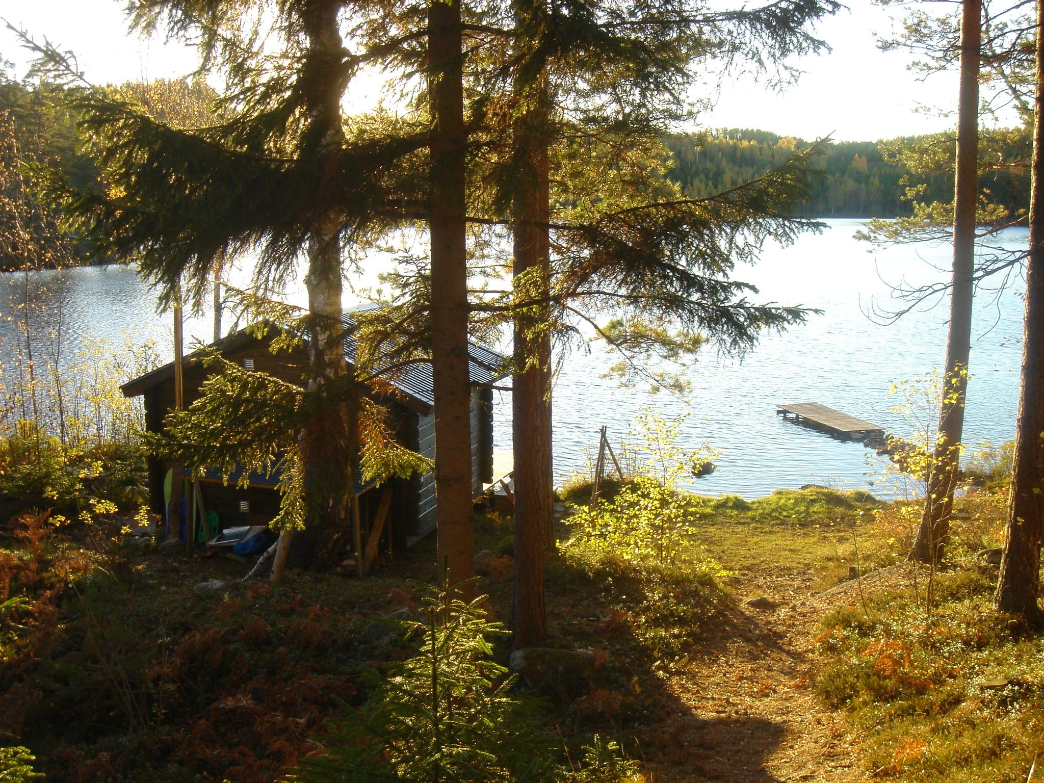 Die Sauna im Herbst