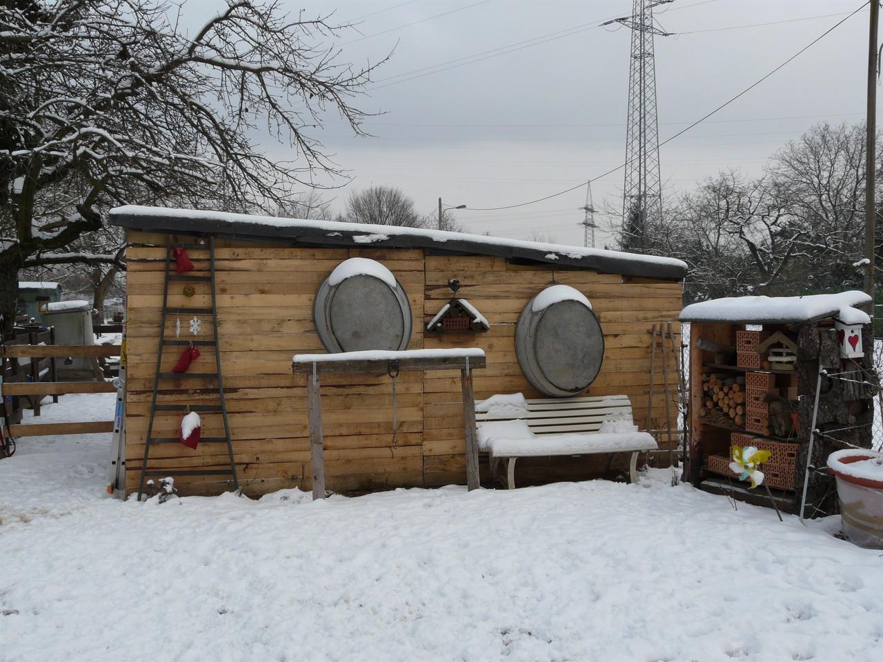 Winterimpression Stallrückseite und Schmiedeplatz