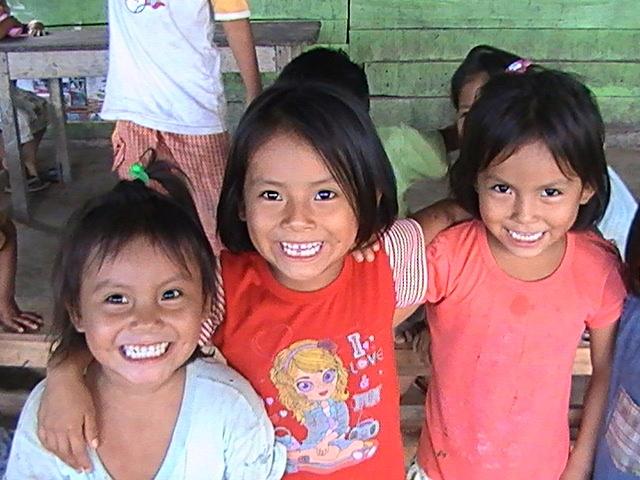 Die Freude ist diesen Kindern anzusehen.