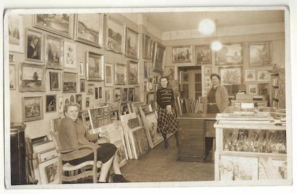Foto der Kunsthandlung Langheinz aus den 50er Jahren
