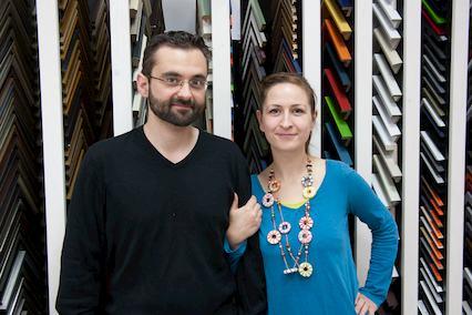 Stephan und Verena Langheinz von der gleichnamigen Kunsthandlung Langheinz