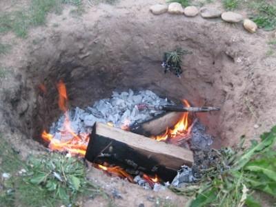 Ein Feuer darf auch nicht fehlen...