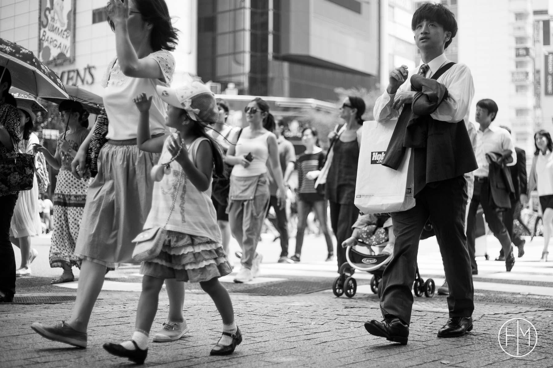 Piétons au carrfour de Shibuya, le plus grand du monde