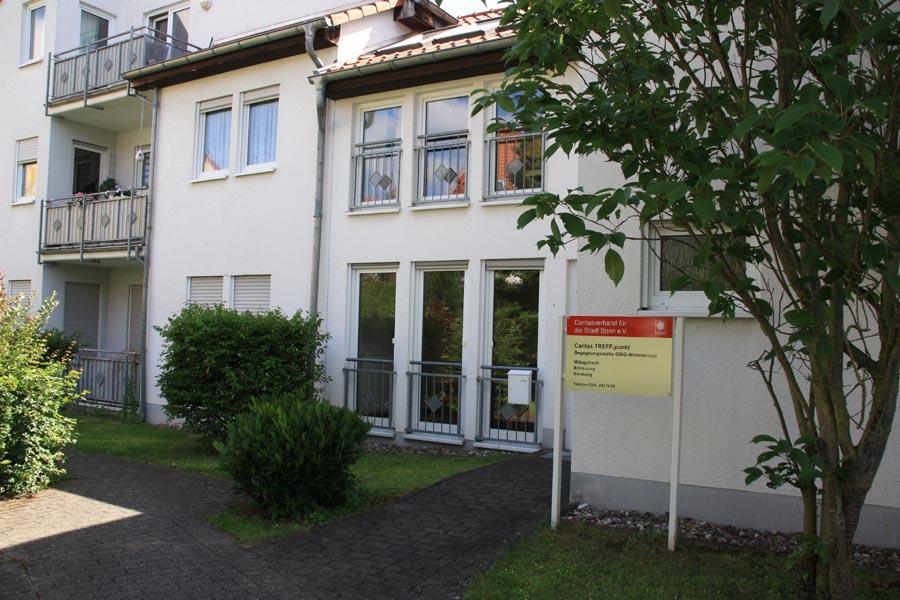 Die Begegnungsstätte Caritas TREFF.punkt in der Wilhelm-Kerp-Str.