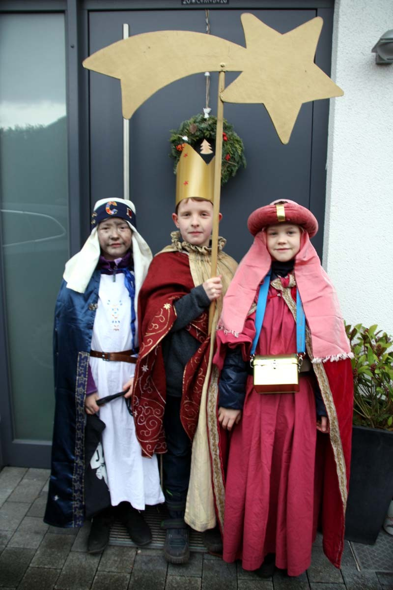 Caspar, Melchior und Balthasar bringen den Segen für jedesHaus