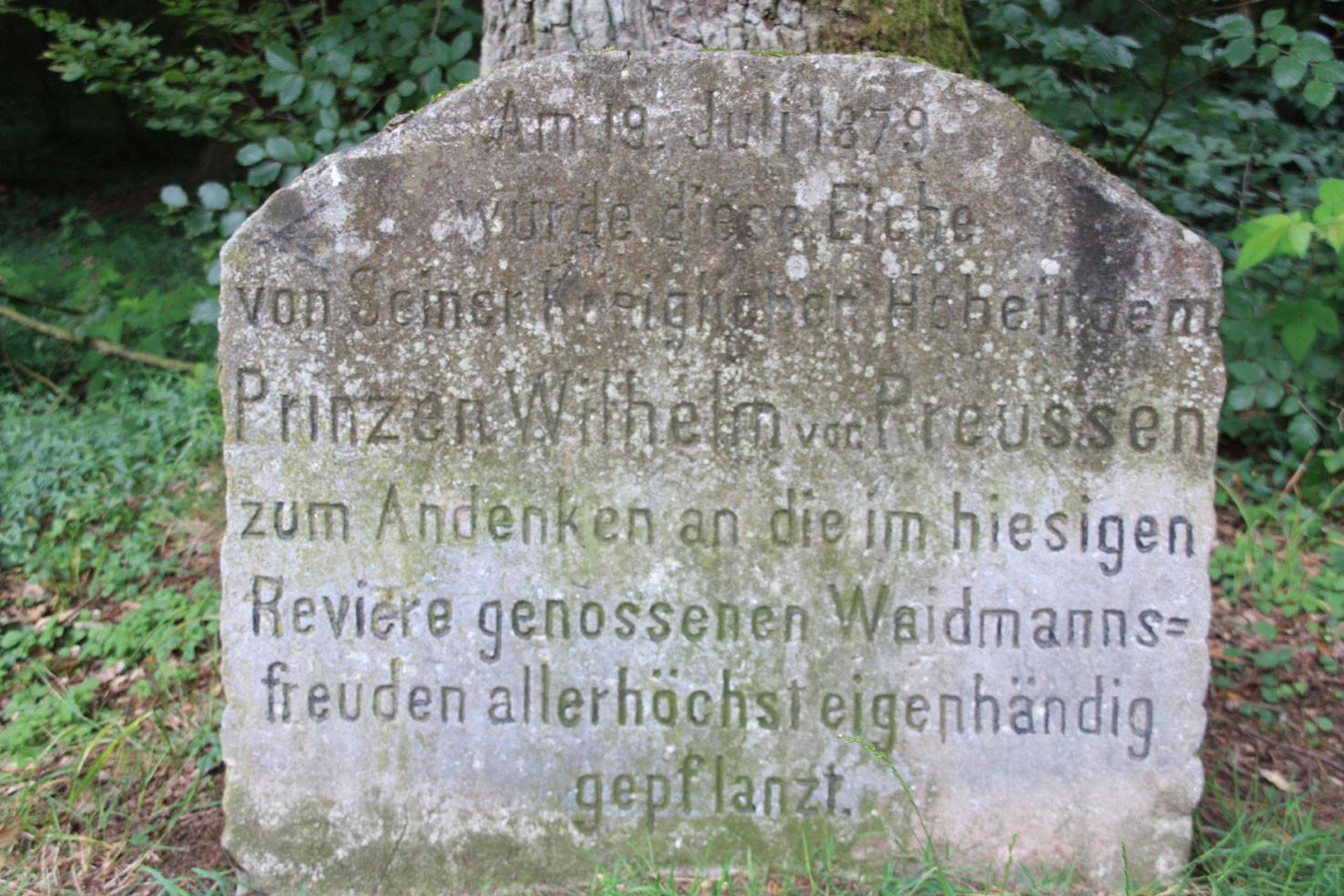 Gedenkstein an der Kaisereiche