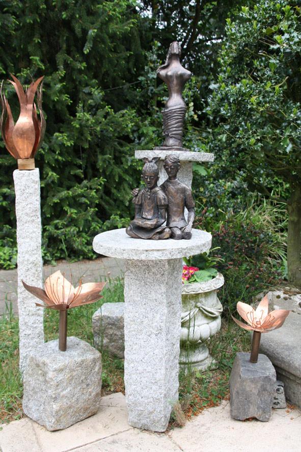 Skulpturen aus Bronze und Kupfer