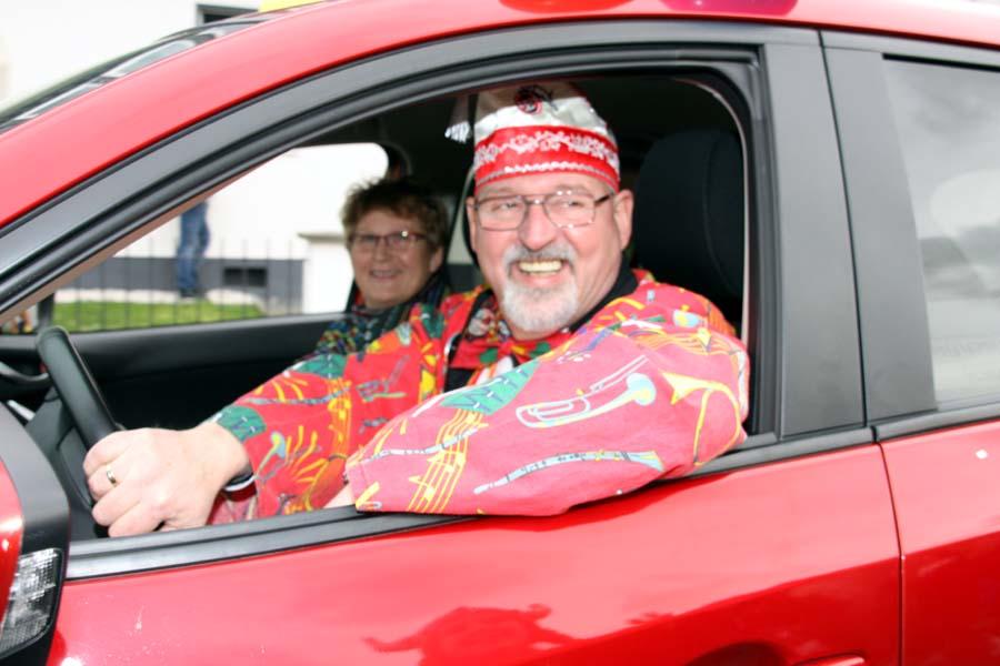 Auch als Fahrzeugführer im Röttgener Karnevalszug war er im Einsatz