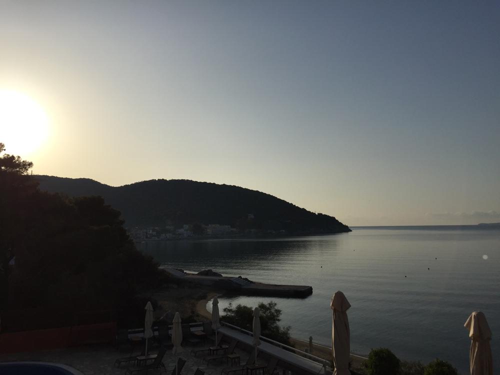 Die Stimmung frühmorgens bei Sonnenaufgang