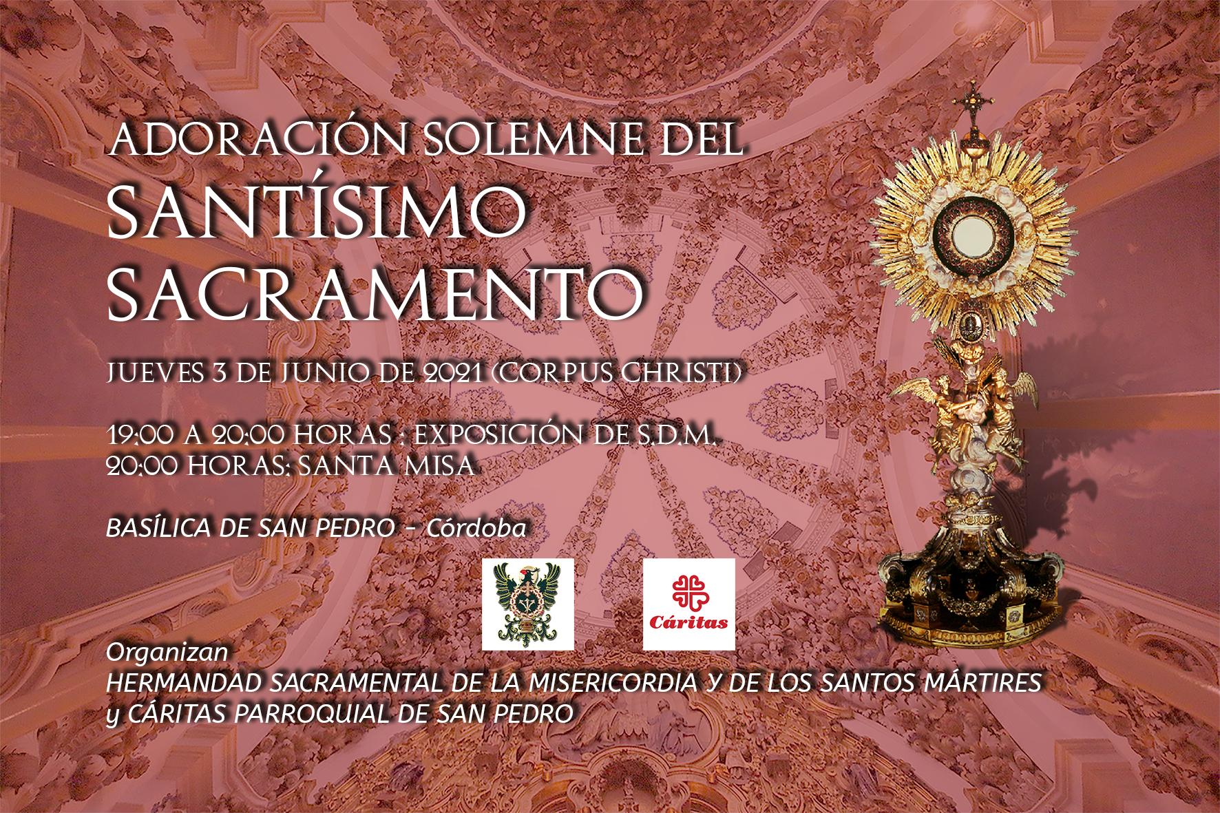 Adoración al Santísimo Sacramento el día del Corpus Christi