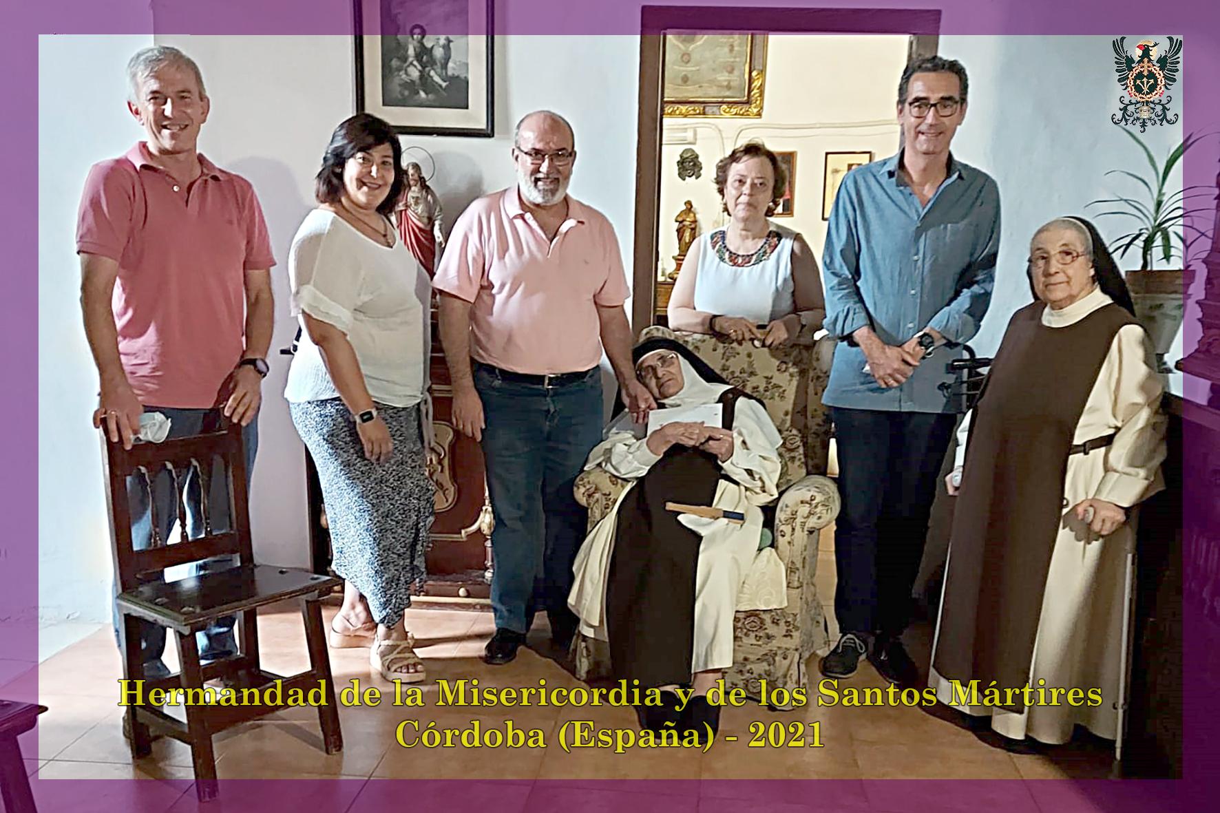 La Vocalía de Caridad entrega 2.200 euros a las monjas de Santa Marta