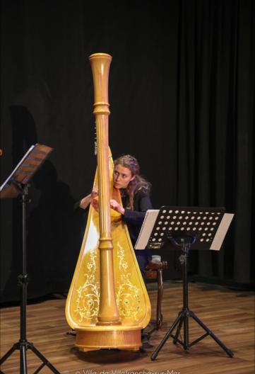 Concert violon/harpe aux côtés de Vera Novakova février 2019