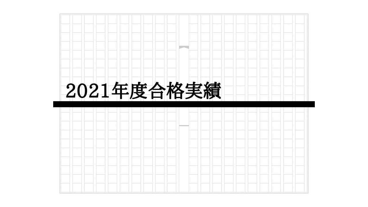 2021年度合格実績
