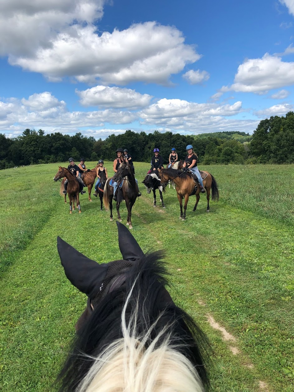 Enjoying a long trail ride at Pipestave hill