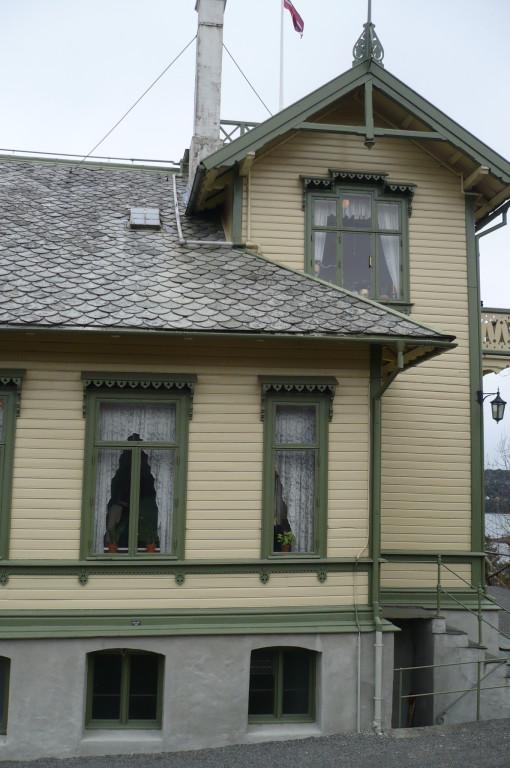Hier wohnte Grieg.