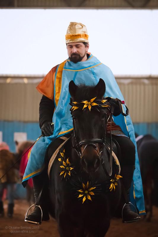 Ярослав Сибарнов в роли волхва Артабана на коне Бродвее