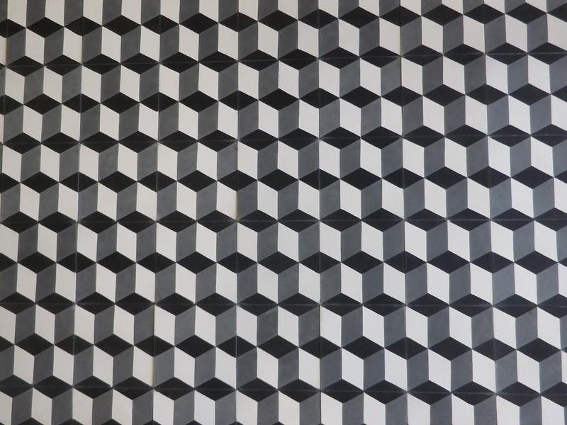 carreaux de ciment 3D - motif cube