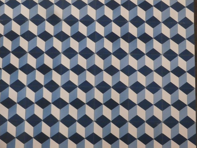 carreau ciment motif cube