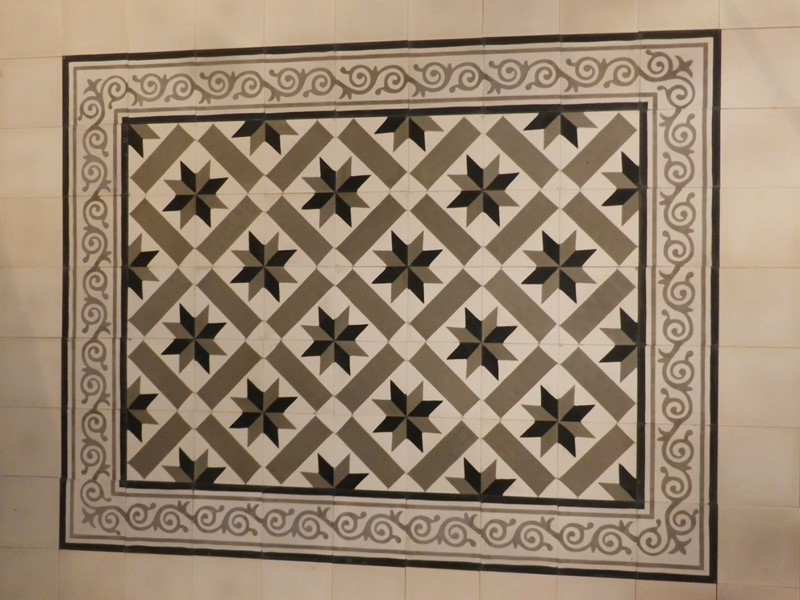 tapis carreau de ciment - motif véga