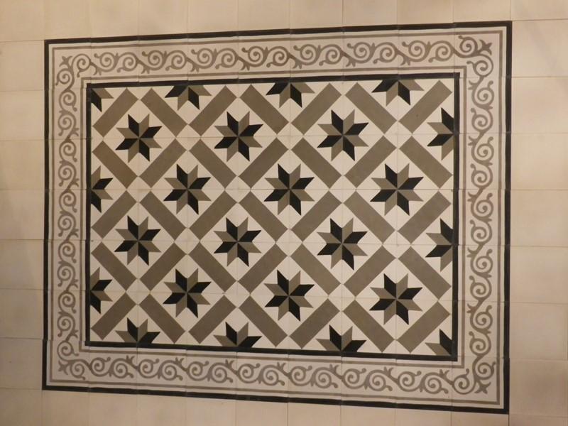 tapis carreau de ciment - motif véga