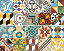 Patchwork de carreaux de ciment