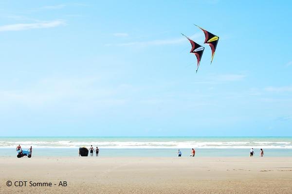 Cerfs-volants sur la plage de Quend