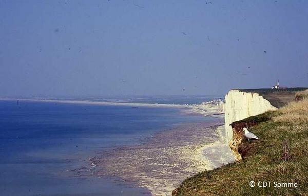 Les falaises de craie vers la baie de Somme