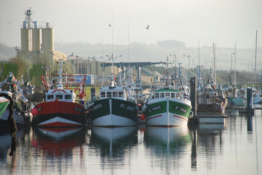 Bateaux de pêche au Tréport