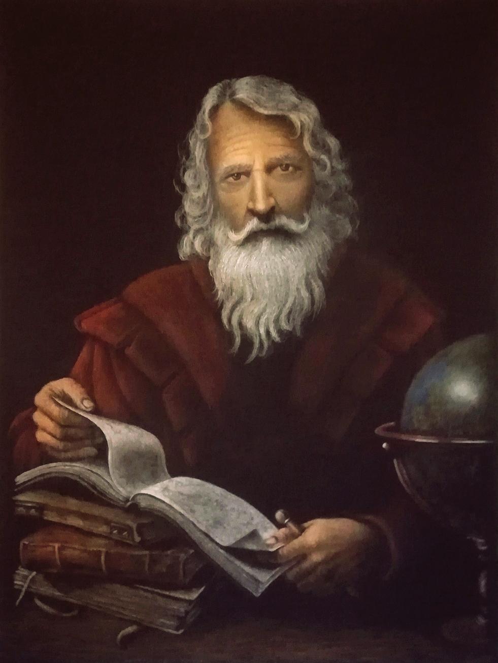 """60x80 cm, meine Interpretation von """"Der bärtige Wissenschaftler"""", Original: Agostino Scilla, 1629-1700, Rom"""